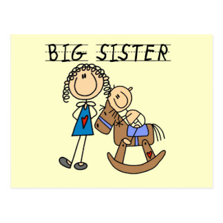 Rocking Horse Big Sister T-shirts and Gifts Postcard