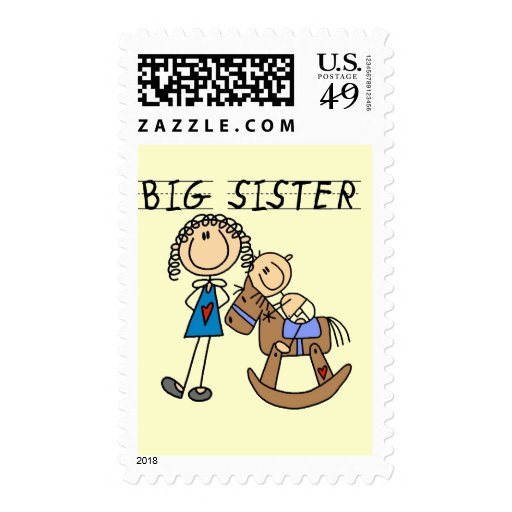 Rocking Horse Big Sister T-shirts and Gifts Stamps