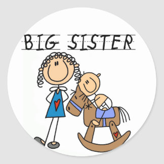 Rocking Horse Big Sister T-shirts and Gifts Classic Round Sticker