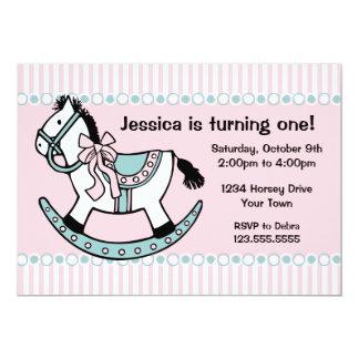 Rocking Horse Birthday Invitation