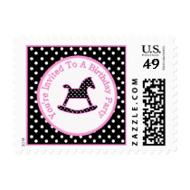 Rocking Horse Birthday Party Postage