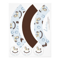 Rocking Horse Boy Cupcake Wrapper 2D