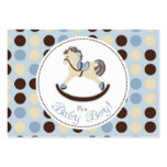 Rocking Horse Boy Gift Tag 2 Business Card Templates