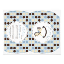 Rocking Horse Boy Puff Box Template A Flyer