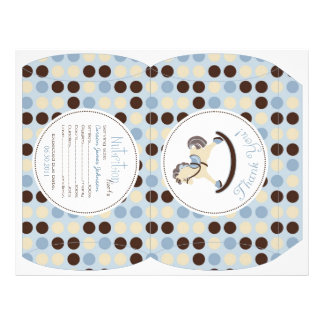 Rocking Horse Boy Puff Box Template A Full Color Flyer