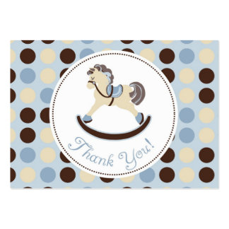 Rocking Horse Boy TY Gift Tag 2 Large Business Card