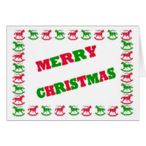 Rocking Horse Christmas Greeting Card