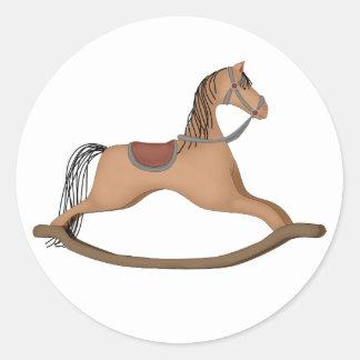rocking-horse classic round sticker