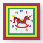 Rocking Horse Clock with Numbers