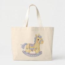 Rocking Horse Diaper Bag (Blue)