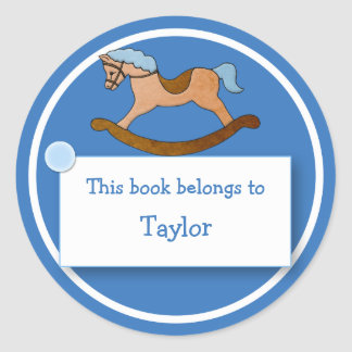 Rocking Horse for Child's Bookplate