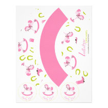 Rocking Horse Girl Cupcake Wrapper RH4