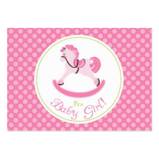 Rocking Horse Girl Gift Tag 2 Business Card Template