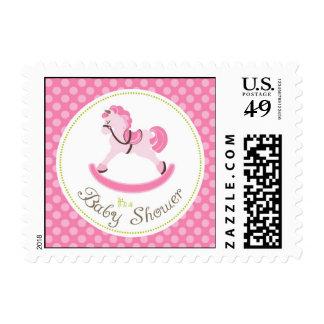 Rocking Horse Girl Stamp B2