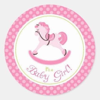 Rocking Horse Girl Sticker