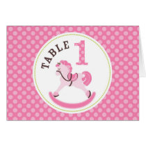 Rocking Horse Girl Table Card 1