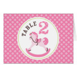 Rocking Horse Girl Table Card 2