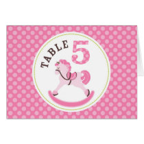 Rocking Horse Girl Table Card 5