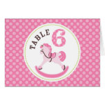 Rocking Horse Girl Table Card 6