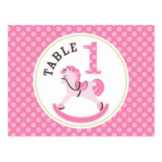 Rocking Horse Girl Table Postcard 1