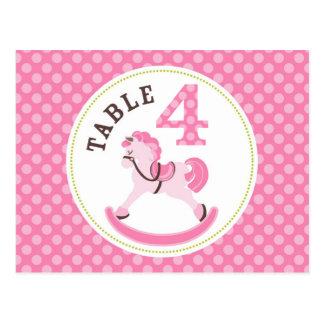 Rocking Horse Girl Table Postcard 4