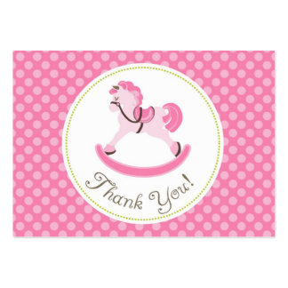 Rocking Horse Girl TY Gift Tag 2 Large Business Card