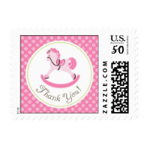 Rocking Horse Girl TY Stamp B