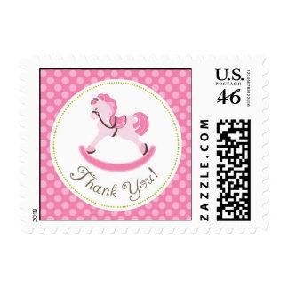 Rocking Horse Girl TY Stamp B