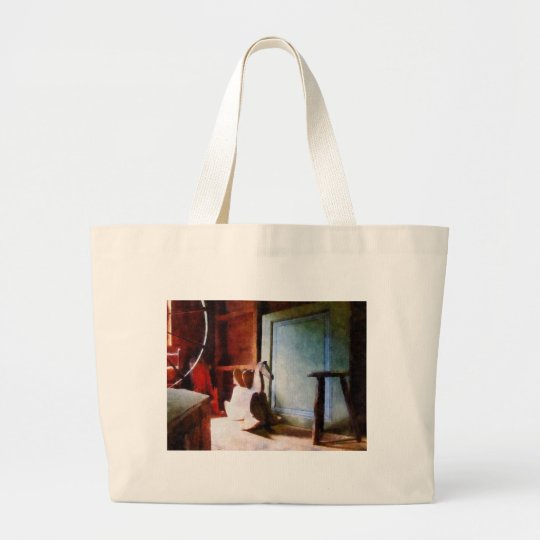 Rocking Horse in Attic Large Tote Bag