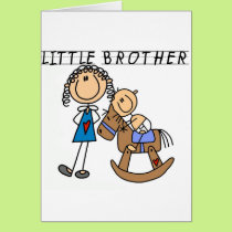 Rocking  Horse Little Brother Tshirts Card