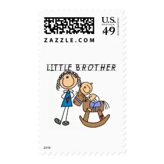 Rocking  Horse Little Brother Tshirts Postage Stamp