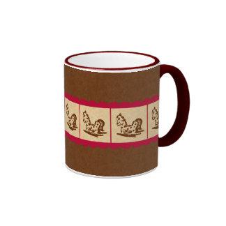 Rocking Horse March Ringer Coffee Mug