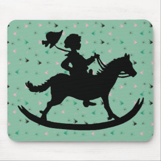 Rocking horse mouse pad
