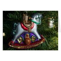 Rocking Horse Ornament Card