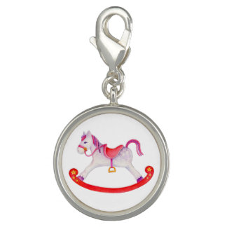 Rocking horse painting charm
