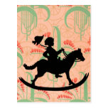Rocking horse postcard