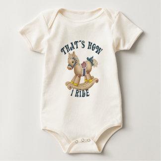 Rocking Horse Ride Baby Bodysuits