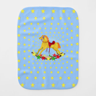 Rocking Horse Riding the Stars Baby Burp Cloth