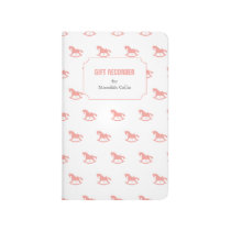 Rocking Horse Silhouette Baby Shower Gift Recorder Journal