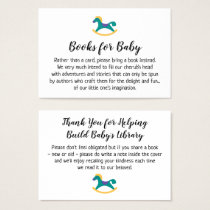 Rocking Horse Simple Book Request Insert Cards