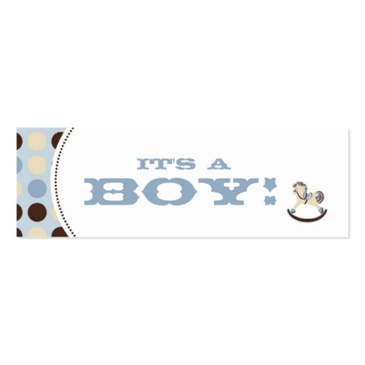 Rocking Horse Skinny Gift Tag Business Card