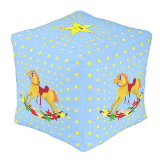 Rocking Horse Star Ride Cube Pouf