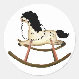 Rocking Horse Classic Round Sticker