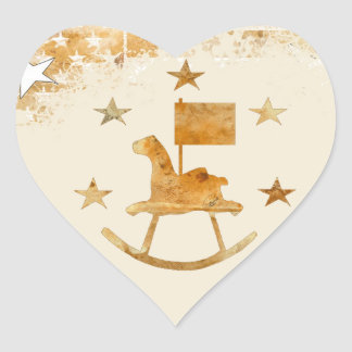 Rocking Horse Heart Stickers