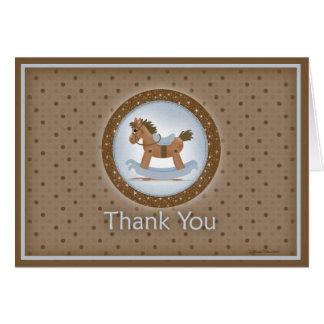 Rocking Horse Thank You Card