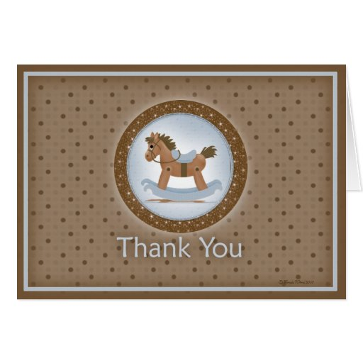 Rocking Horse Thank You Card