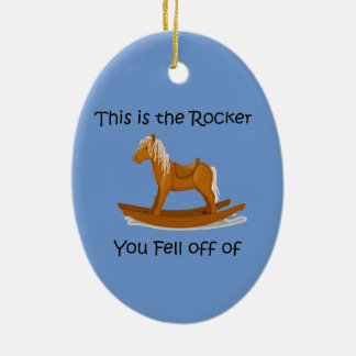 Rocking Horse This is the Rocker you're off of Ceramic Ornament