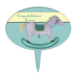 Rocking Horse - Traditional Toys (pastel) Cake Topper