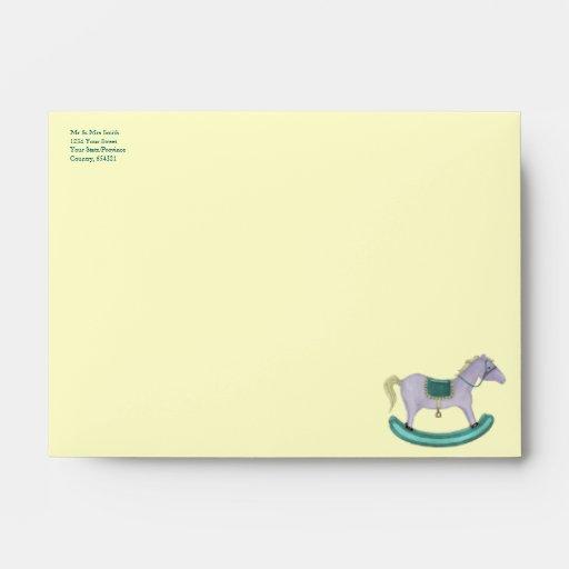 Rocking Horse - Traditional Toys (pastel) Envelope