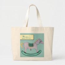 Rocking Horse - Traditional Toys (pastel) Large Tote Bag